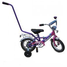 """Велосипед Марс 12"""" ручка+эксцентрик (розовый/фиолетовый), фото 1"""