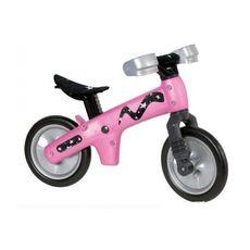 """Беговел 12"""" Bellelli B-Bip обучающий 2-5лет, пластмассовый, чёрный с розовыми колёсами (BIC-05), фото 1"""
