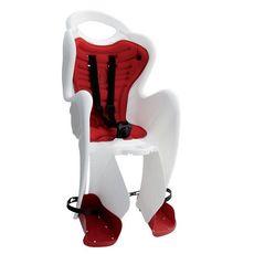 Сиденье заднее Bellelli Tiger Clamp (на багажник) до 22кг, черно-белое с красной подкладкой (SAD-25-A4), фото 1