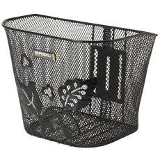 Корзина Basil BERLIN EC FLOWER стальная сетка, на руль, для стационарных кронштейнов Permanent-system, БЕЗ КРЕПЛЕНИЯ в комплекте, черная, фото 1