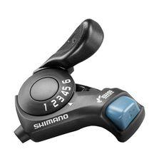 Шифтер Shimano SL-TX30 правый 6-скор. (SIS-индексный) + тросик, черн, фото 1