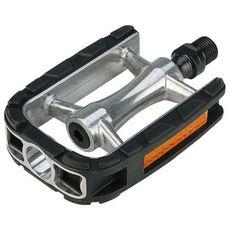 Педали Exustar PC97+, MTB/Trekking/Comfort, алюминиевый корпус, ось Cr-Mo, шарик. подшипники, серебристая (PED-00-52), фото 1