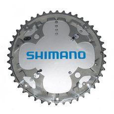Звезда шатунов Shimano Deore FC-M590 44зуб, совместима с защитой, 9-ск, серая, фото 1
