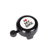 Звонок Green Cycle GCB-1051A-BK I love my bike стальной черный (BEL-88-42), фото 1