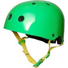 Шлем детский Kiddimoto неоновый зелёный, фото 1