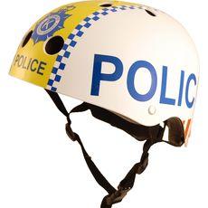 Шлем детский Kiddimoto полиция, белый, фото 1