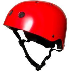 Шлем детский Kiddimoto красный металлик, фото 1