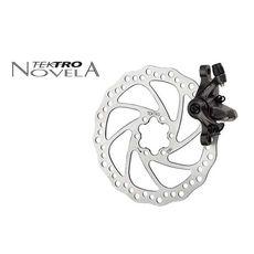 Тормоз дисковый механ. Tektro Novela в комплекте с ротором 160мм+калипер+болты+ адаптер IS пер.180мм или задн. 160мм, черн (BRA-15-48), фото 1
