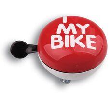 Динг-Донг Green Cycle GCB-1058S I love my bike диаметр 80мм красный (BEL-53-21), фото 1