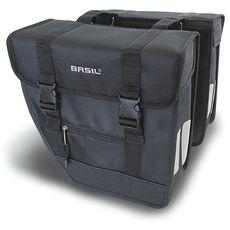 Сумка-штаны на багажник Basil TOUR 26л. водоотталкив. полиэстер, черн-серебр., фото 1