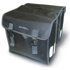Сумка-штаны на багажник Basil MARA XL 35л. водоотталкив. полиэстер, черная, фото 1