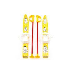 Лыжи с палками Marmat детские пласт., длина-70см желтый, фото 1