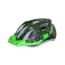 Шлем детский Green Cycle Fast Five черно-зеленый, фото 1