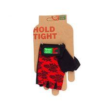 Перчатки Green Cycle NC-2140-2013 Kids без пальцев красно-черные, фото 1