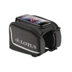 "Сумка Lotus SH-P23-M на верхнюю трубу рамы, с чехлом для телефона 5"" на липучке. Размер M 7.2x14см, черный (BIB-06-58), фото 1"