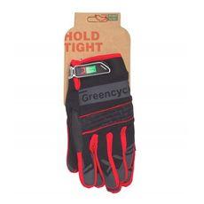 Перчатки Green Cycle NC-2373-2014 MTB с закрытыми пальцами черно-красные, фото 1