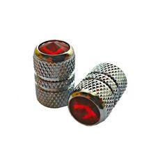 Колпачок для камеры TW V07 сереб. цвета  с диамантом красн. цвета (в комплекте 4шт) Автомобильного стандарта (CTU-91), фото 1