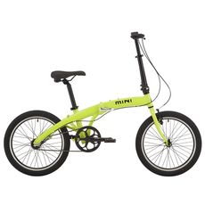 "Велосипед 20"" Pride MINI 3 неон/лайм 2018 (SKD-12-80), фото 1"