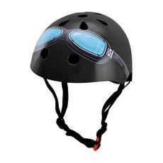 Шлем детский Kiddimoto Black Goggle, фото 1