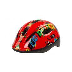 Шлем детский Green Cycle Robots красный, фото 1