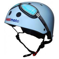 Шлем детский Kiddimoto очки пилота, синий, фото 1