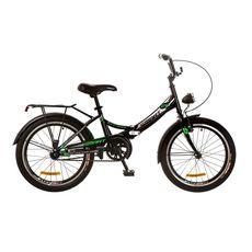 """Велосипед 20"""" Formula Smart 14G  черно-зеленый с фонарём 2017, фото 1"""