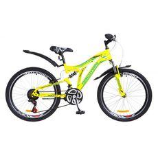 "Велосипед 24"" Discovery Rocket AM2 14G Vbr желто-синий 2018, фото 1"