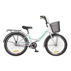 """Велосипед 24"""" Formula Smart 14G Vbr  бело-зеленый с корзиной 2018, фото 1"""