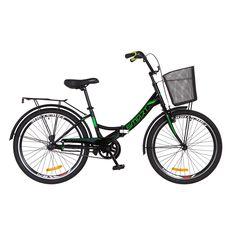 """Велосипед 24"""" Formula Smart 14G Vbr черно-зеленый с корзиной 2018, фото 1"""