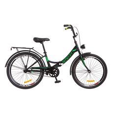 """Велосипед 24"""" Formula Smart 14G Vbr черно-зеленый с фонарём 2018, фото 1"""