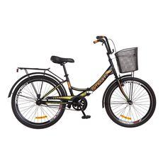 """Велосипед 24"""" Formula Smart 14G Vbr черно-оранжевый с корзиной 2018, фото 1"""