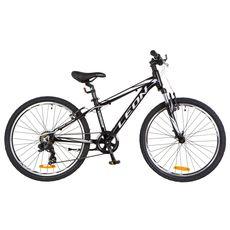 """Велосипед 24"""" Leon Junior AM 14G Vbr Al чёрно-белый 2018, фото 1"""