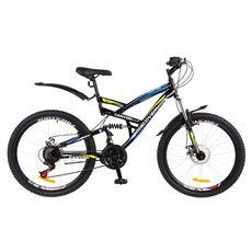 """Велосипед 26"""" Discovery Canyon AM2 14G DD черно-сине-зеленый с крылом 2018, фото 1"""