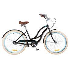 """Велосипед 26"""" Dorozhnik Cruise 14G с планетарной втулкой Al черно-бирюзовый 2018, фото 1"""