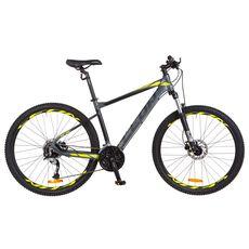 "Велосипед 27.5"" Leon XC-70 AM Hydraulic lock out 14G HDD Al серо-черный с салатным 2018, фото 1"