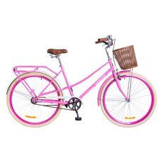 """Велосипед 28"""" Dorozhnik Comfort Female 14G с планетарной втулкой сакура с корзиной 2018, фото 1"""