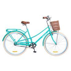 """Велосипед 28"""" Dorozhnik Comfort Female 14G с планетарной втулкой бирюзовый с корзиной 2018, фото 1"""