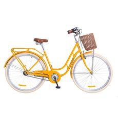 """Велосипед 28"""" Dorozhnik Retro 14G с планетарной втулкой оранжевый с корзиной 2018, фото 1"""