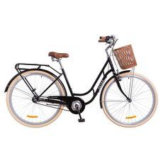 """Велосипед 28"""" Dorozhnik Retro 14G с планетарной втулкой черный с корзиной 2018, фото 1"""