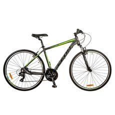 "Велосипед 28"" Leon HD-85 AM 14G Vbr Al серо-зеленый 2017, фото 1"