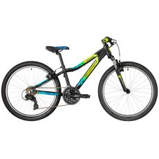 "Велосипед 24"" Bergamont Revox 24 Boy 2018 black/blue/lime (matt), фото 1"