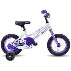 "Велосипед 12"" Apollo Neo girls фиолетовый/белый 2018 (SKD-66-57), фото 1"
