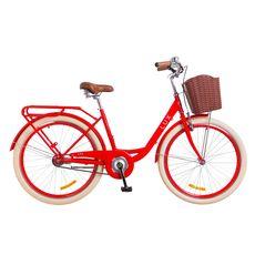 """Велосипед 26"""" Dorozhnik Lux 14G красный с корзиной 2018, фото 1"""