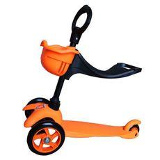 Самокат Mars Kids с корзинкой, оранжевый {SKL 06-100B оранжевый}, фото 1