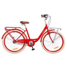 """Велосипед 26"""" Dorozhnik Lux 14G с планетарной втулкой красный с багажником передним 2018, фото 1"""