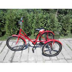 """Велосипед трехколесный Городской с корзиной 24"""", фото 3"""