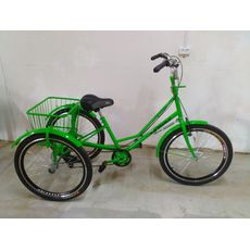 """Велосипед трехколесный Городской с корзиной 24"""", фото 5"""