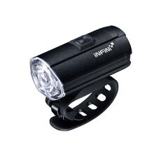 Мигалка передняя INFINI TRON 300 люмен, диод 3 Watt White LED, чёрный корпус, 6 режимов (LTS-63-90), фото 1