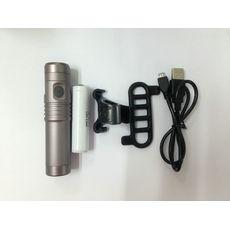 Фонарь Green Cycle NB-37-00 со сменным аккумулятором 18650 (2400mAh), светодиод Cree T6 700 LM, корпус алюминий, заряжается от USB (LTS-81-36), фото 1