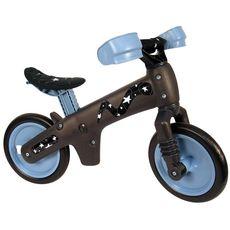 """Беговел 12"""" Bellelli B-Bip обучающий 2-5лет, пластмассовый, чёрный с синими колёсами (BIC-56), фото 1"""